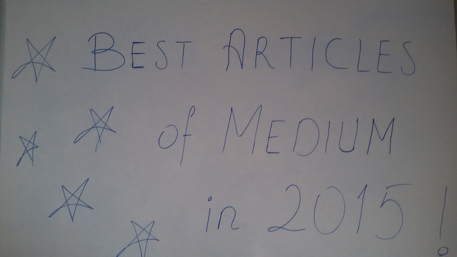 Best Articles of Medium in 2015…