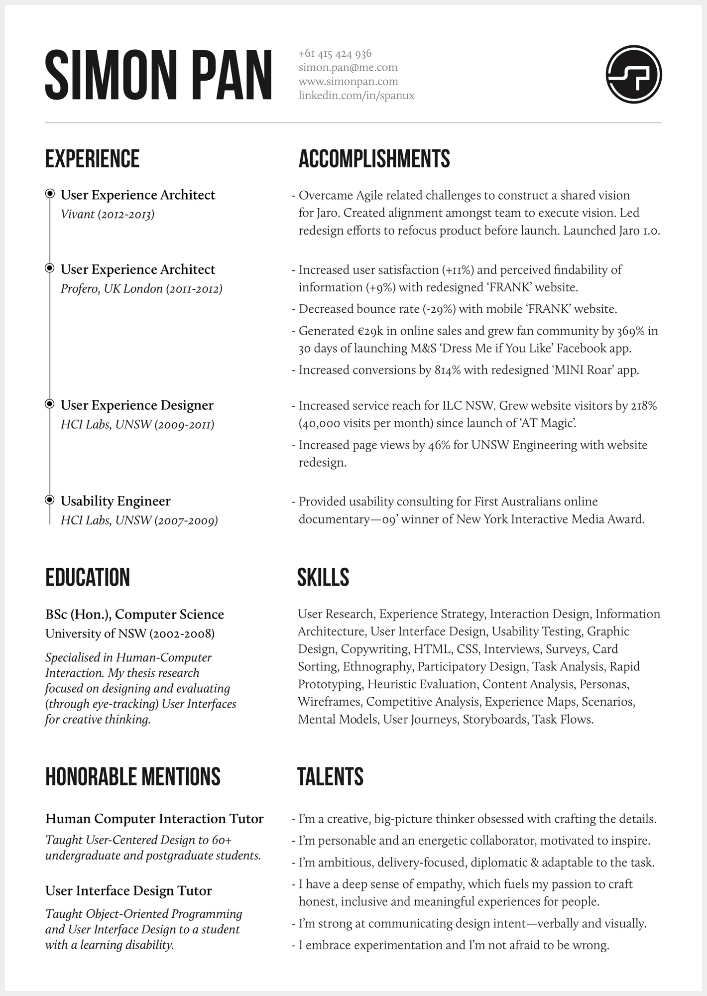 8 brilliant ux designer resumes that secured job offers