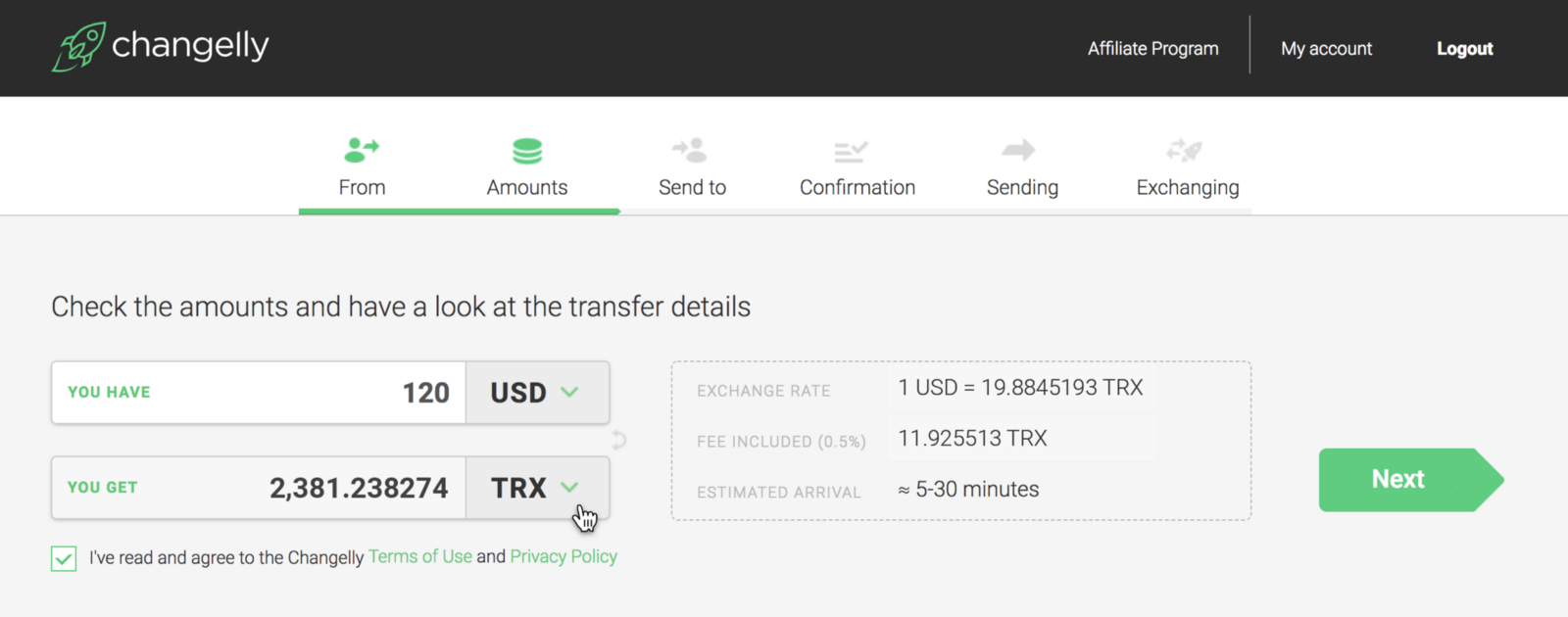 Trx Is Available Now For Usd At Changelly Instant Exchange