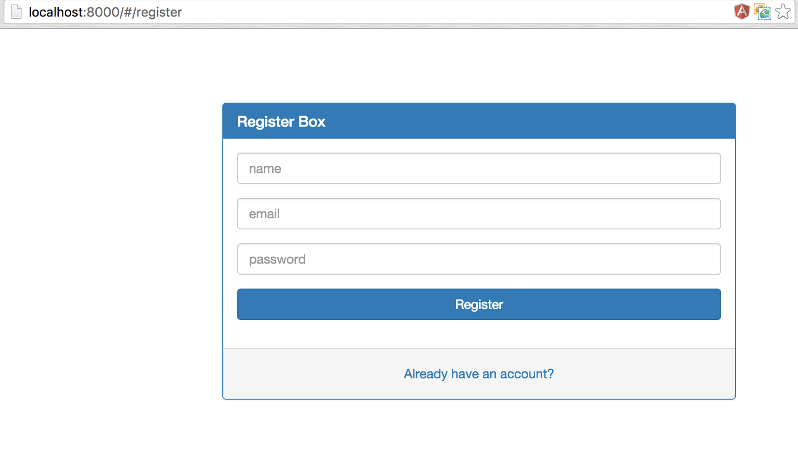 Develop a simple api authentication service with json web token register page falaconquin