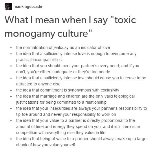 What does it mean to be in a monogamous relationship