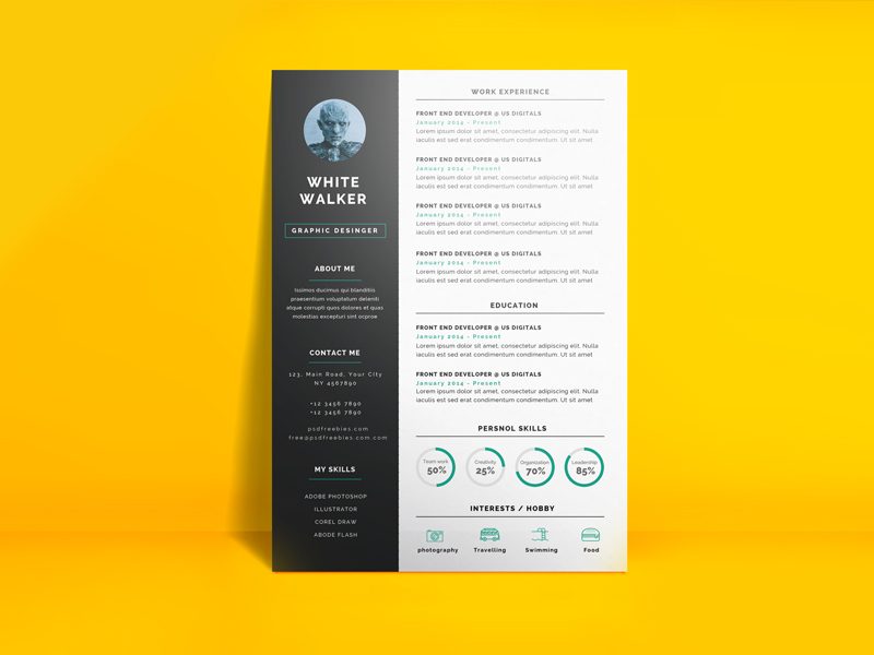 This Free Resume Template Is The Super Clean, Modern And Professional. This  Simple And Clean Resume CV Template To Assists You Achieve Desirable And  Dream ...