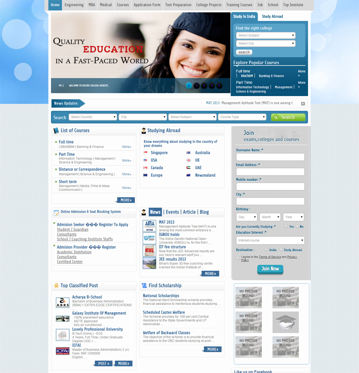 Download Professional Education Website Templates With Responsive - Education website templates