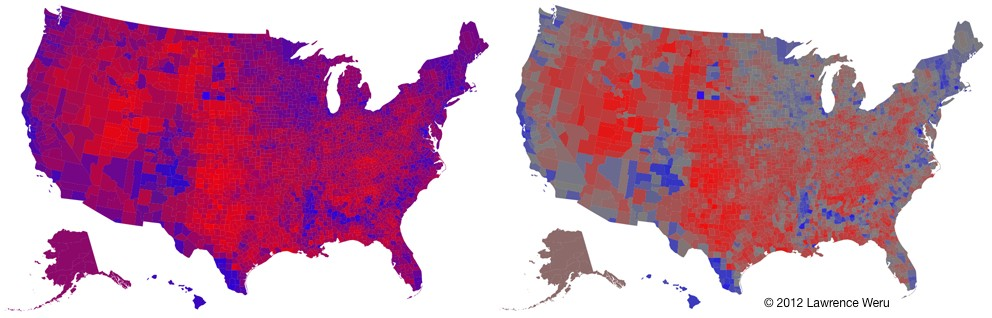 The Trouble With The Purple Election Map Matter Medium - Us election map by county purple