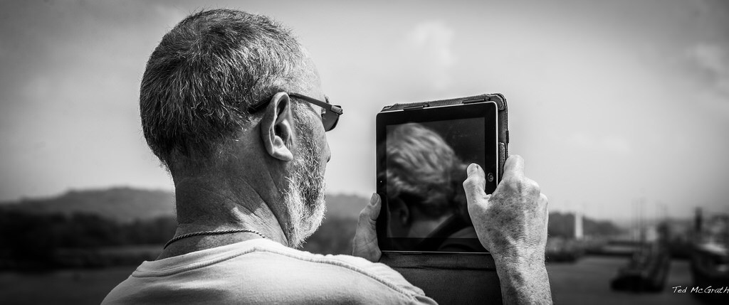 This keyboard doubles as a viewfinder. Photo: Say Cheese by Ted McGrath