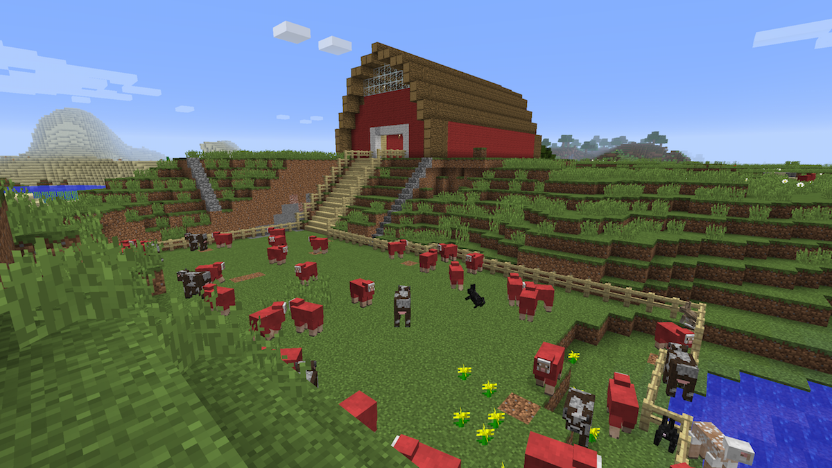 And Now That The Barn Was Finished I Could Take Time To Build Final Grand Set Of Steps Leading From It Pen Cows Sheep