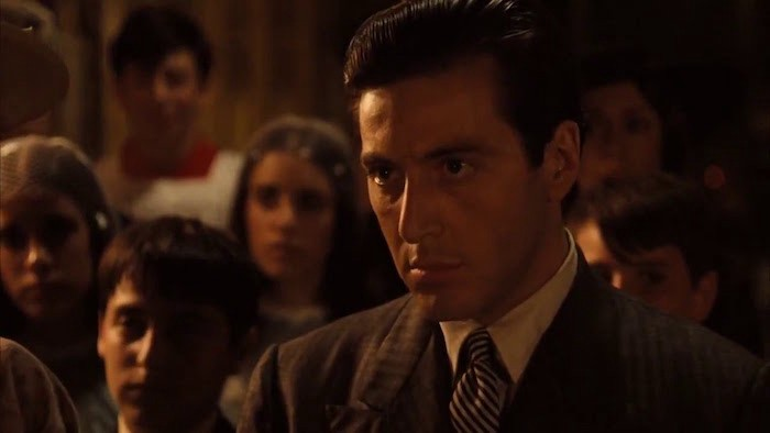 "godfather baptism scene Regarding the changes in the ""backdrop"" to the altar in the baptism scene:  any chance on a follow-up for the new york scenes in godfather part ii wayne."