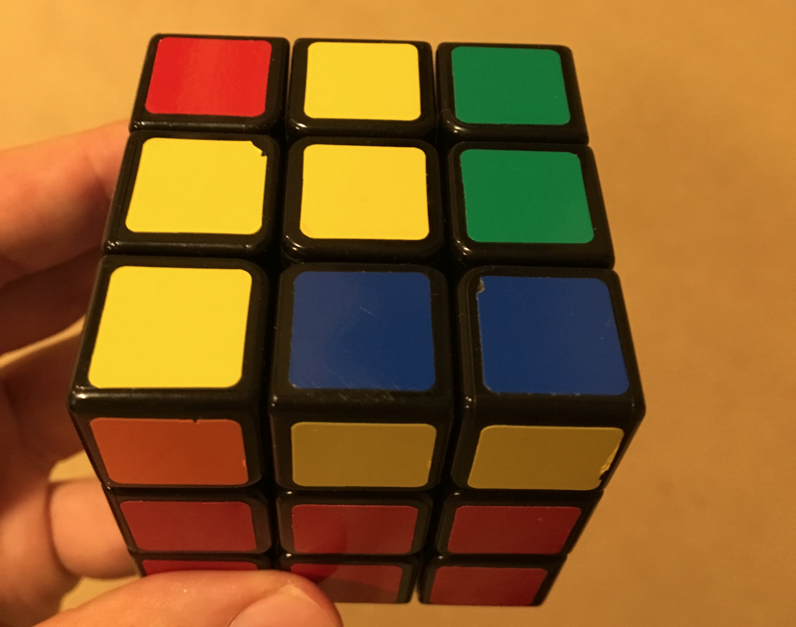 At This Point, The White Side Ispletely Solved And The First Two Layers  Of The Cube (from The Bottom) Are Solved Thus, I Only Need To Solve The  Last