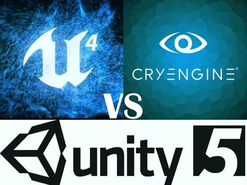 cryengine vs unreal vs unity  select the best game engine