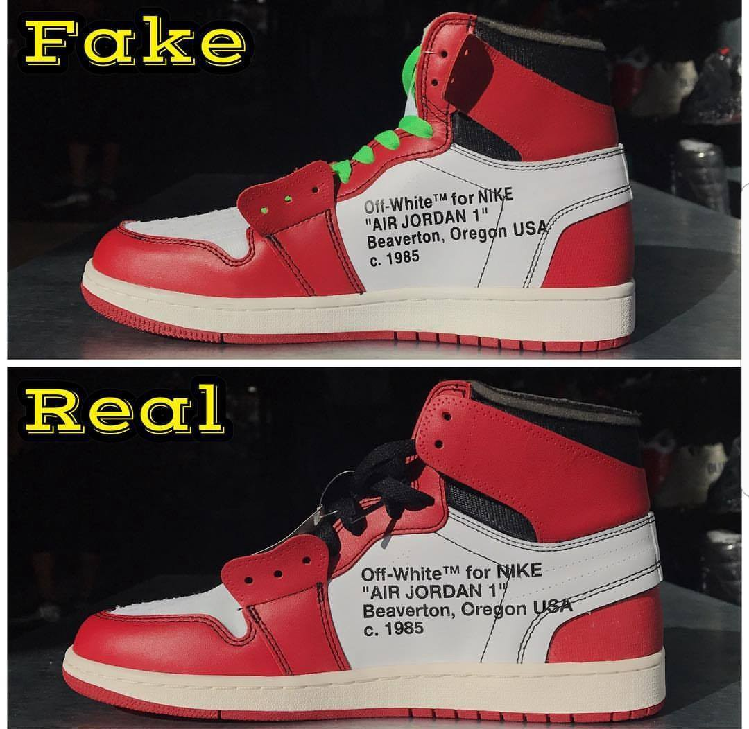 Real Vs Fake Retro 12: OFF WHITE X JORDAN 1s. REAL VS FAKE
