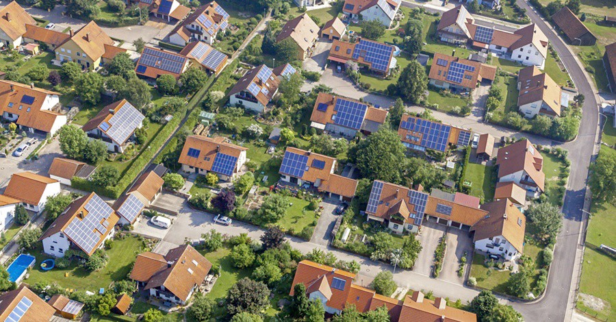 rooftop solar aerial view Germany