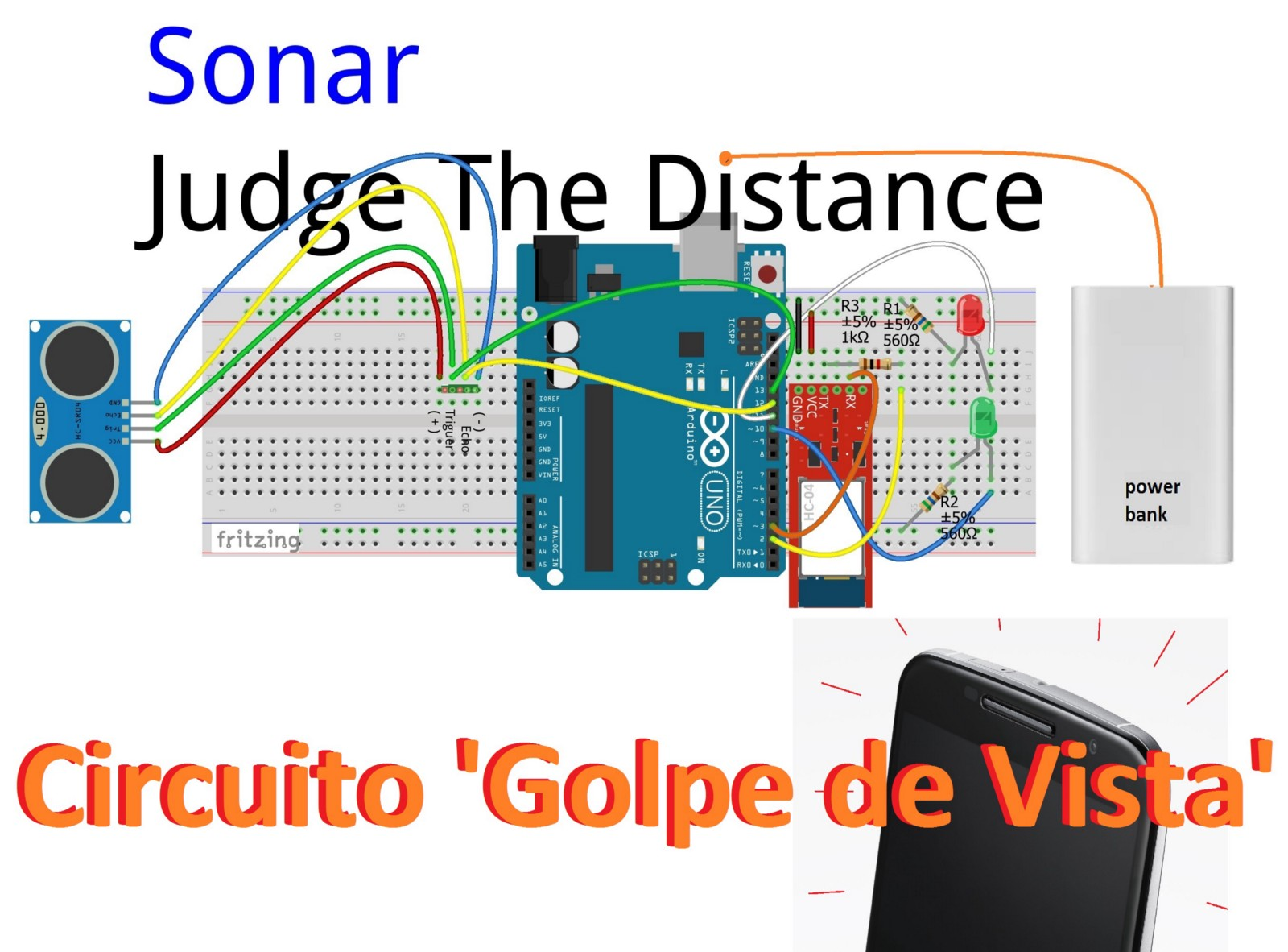 Sonar Wiring Diagrams Judge The Distance Circuit Jungletronics Medium How About That Sound And Vibrate Your Cell There You Are Here Is A Golpe De Vista Solution For Garages Getting Tighter