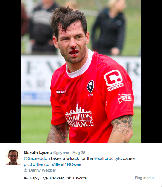 Salford City Programme Gainsborough: The Meeting Of Two Great Clubs