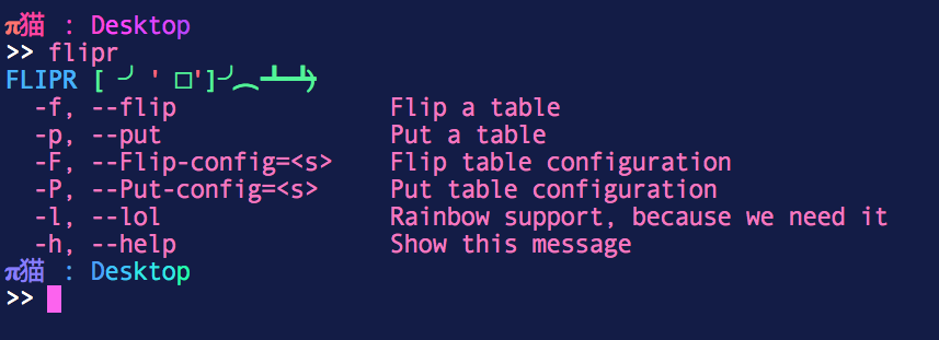 Commandline Flip Tables With Rainbows Kent Gruber Medium - Flip this table flip that table