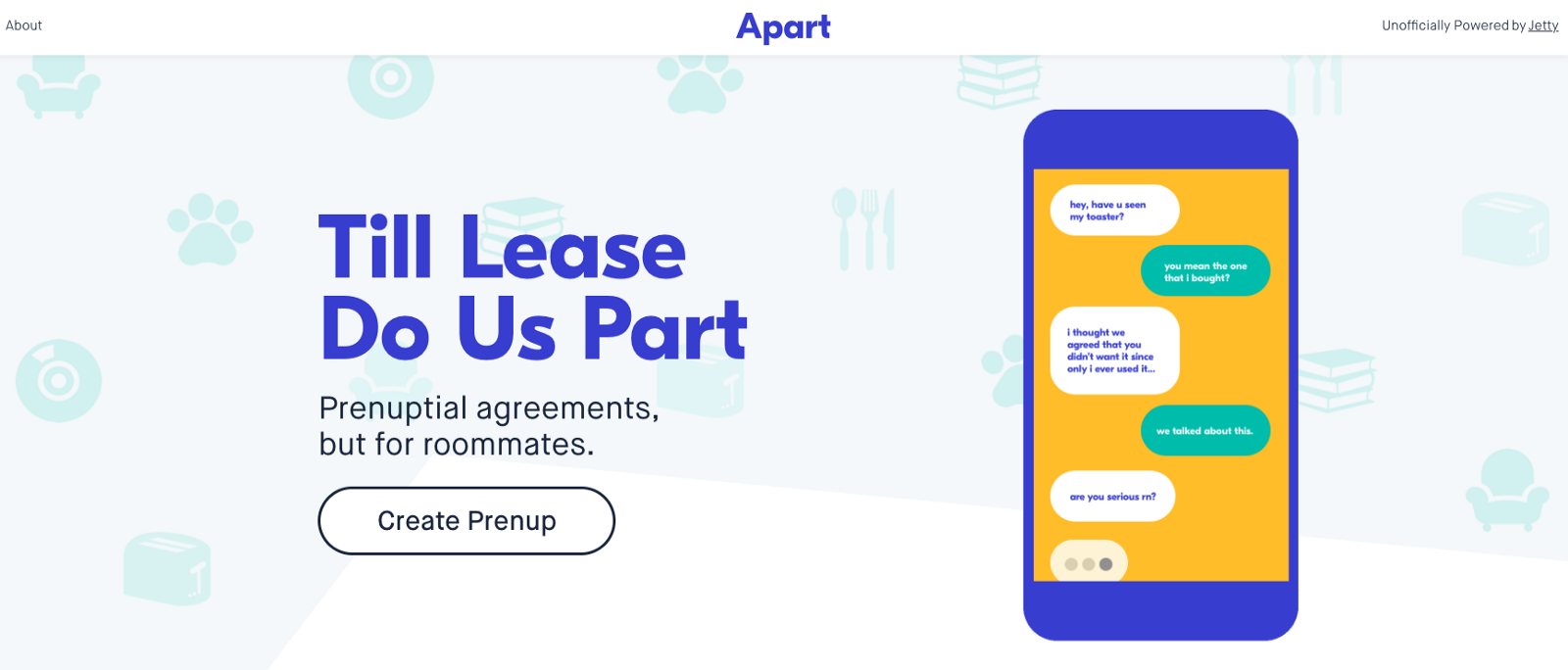 Meet Apart A Prenuptial Agreement But For Roommates