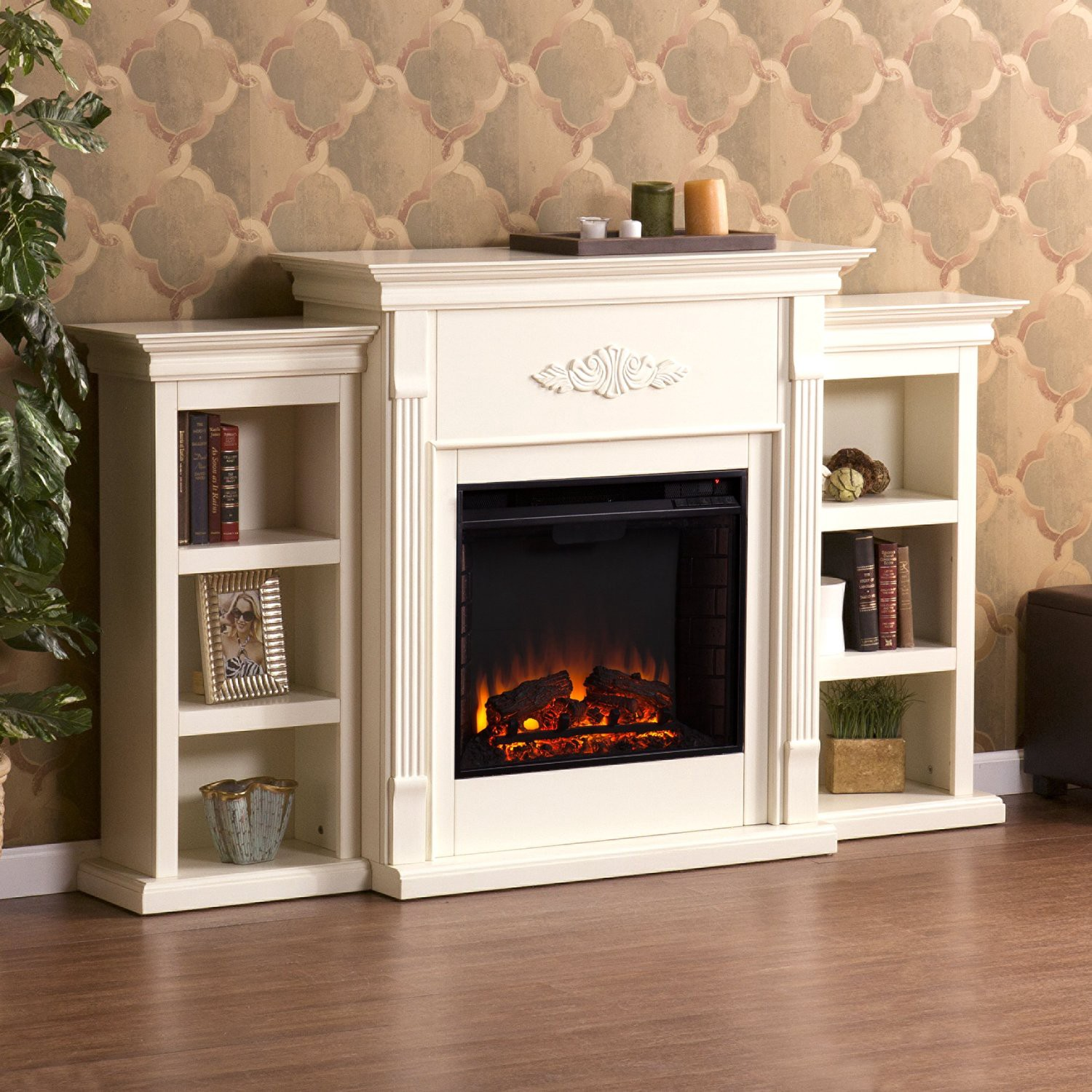 eco friendly electric fireplace does it provide much heat