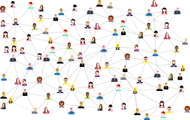 Image of social networking by Gordon Johnson from Pixabay