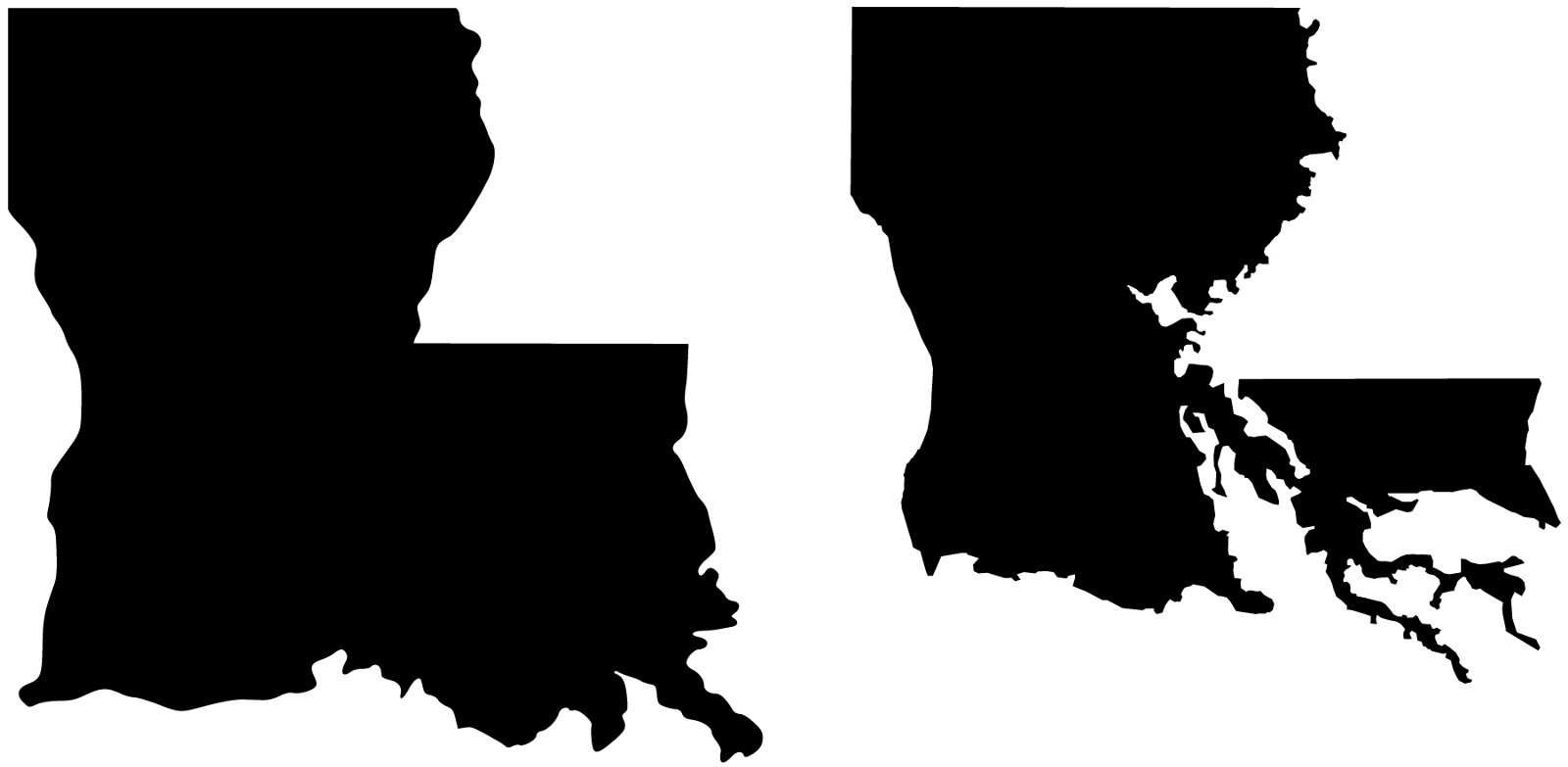 louisiana silhouette cricut - HD 1600×783