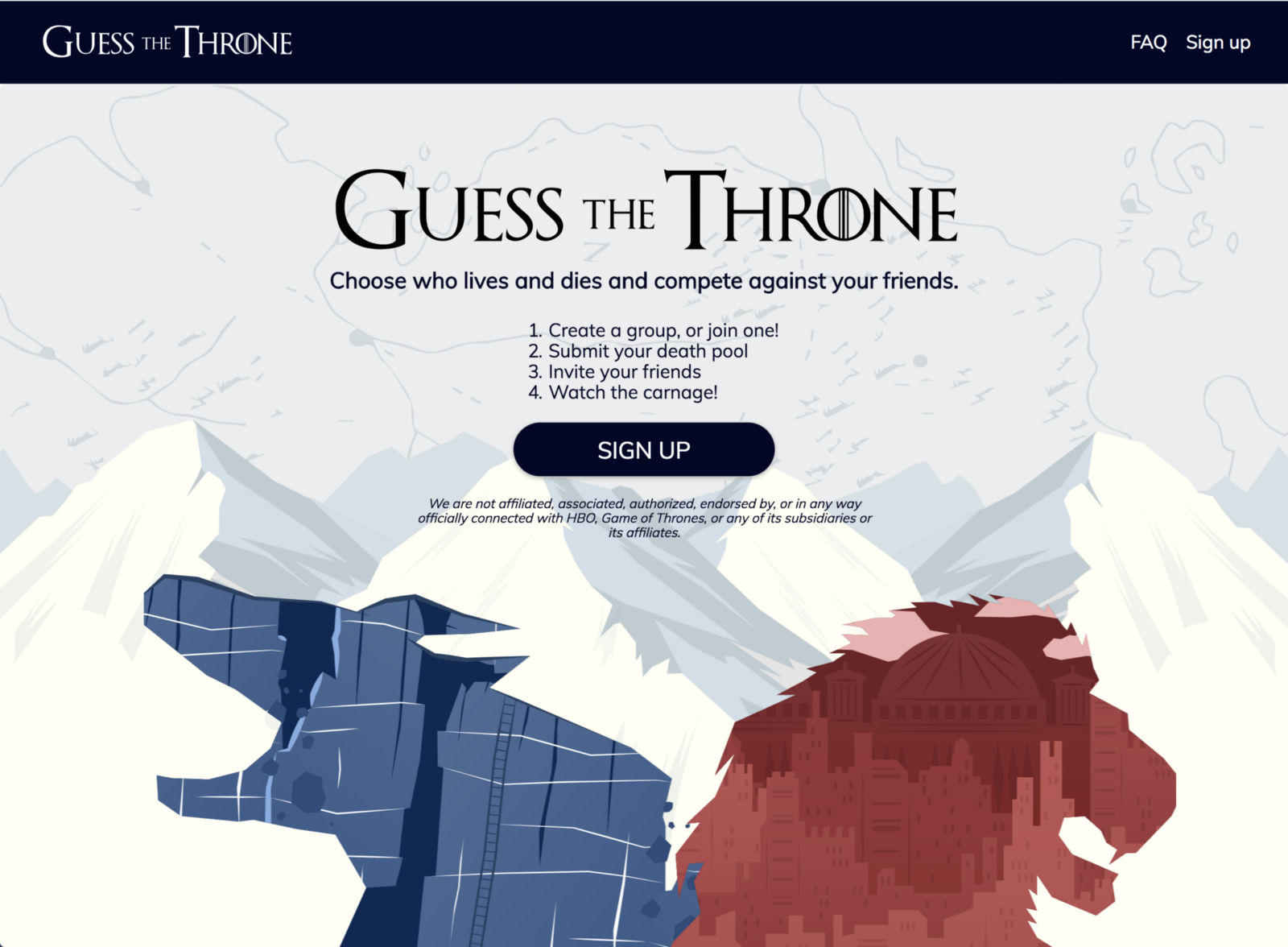 Announcing Guess The Throne A Game Of Thrones Death Pool