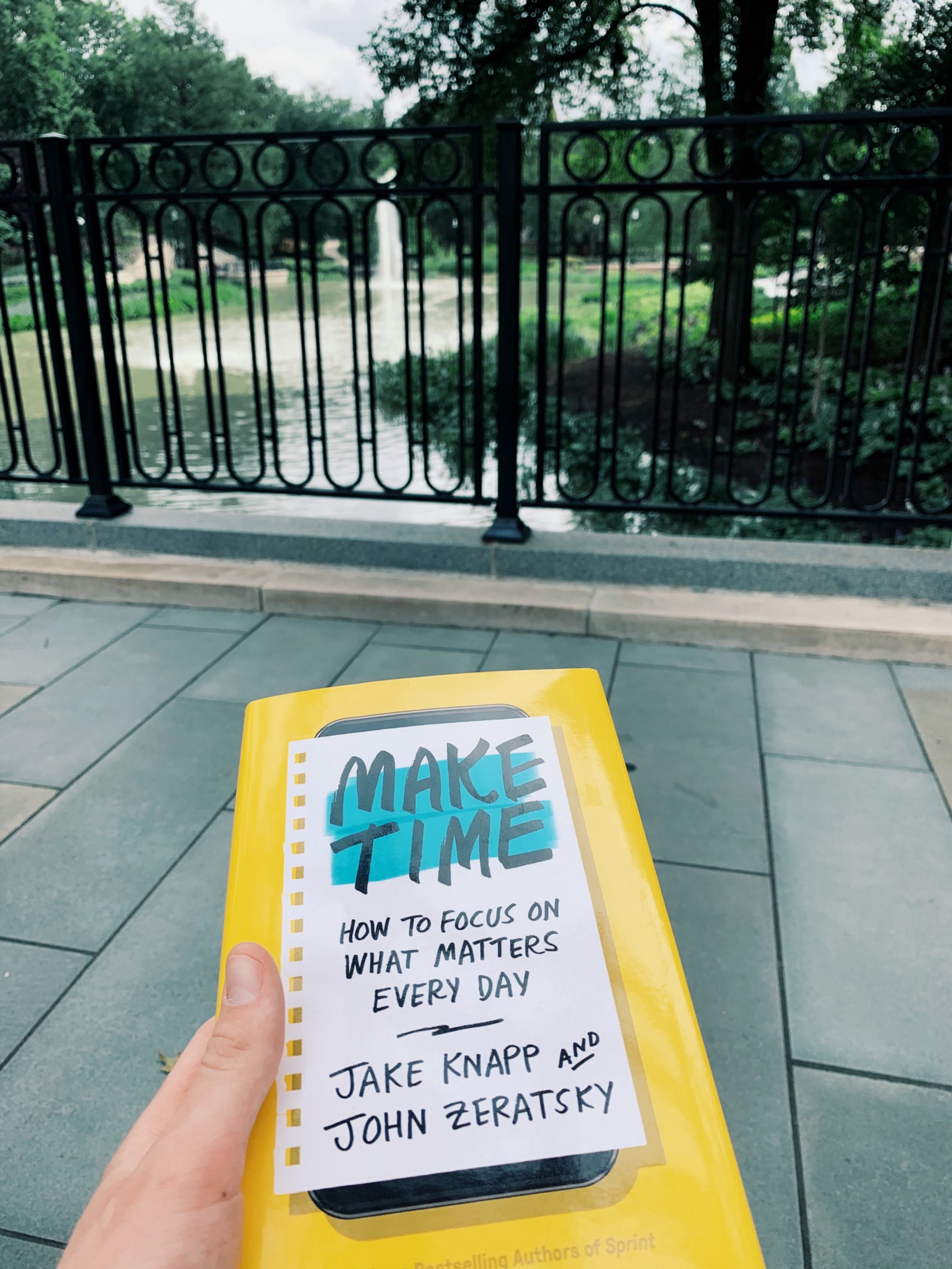 "Reading ""Make Time"" with a view"