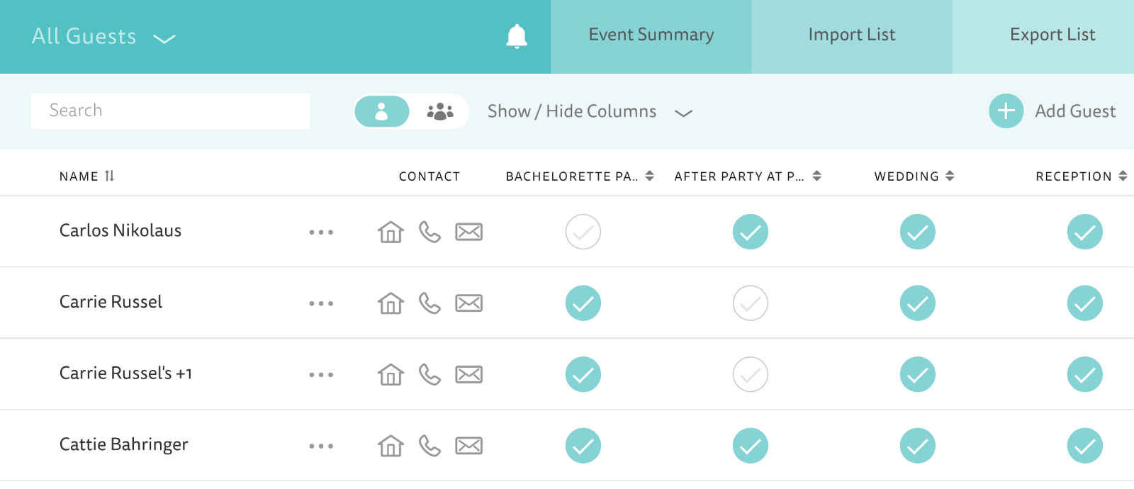 rebuilding the guest list manager with react mobx at the knot