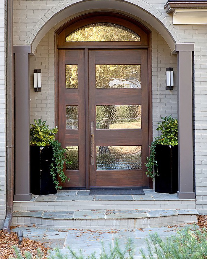 Transitional Front Entry Doors Functionality Maximum Comfort