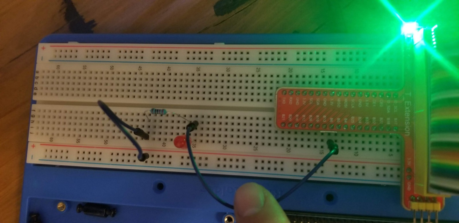 Getting Started With Android Things Lesson 1 Blinking Led Leds Circuit Notice I Used Port B6 For Mine