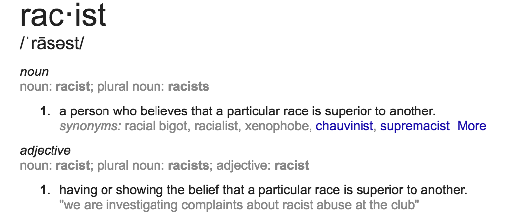 an introduction to the definition of racism Racism term papers (paper 7265) on racism (causes) : introduction racism and prejudice are a problem they have existed for thousands of years and they are transmitted from generation to generation h.