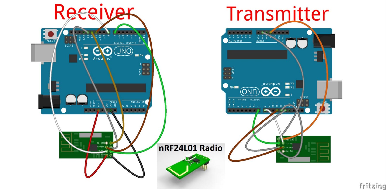 Nrf24l0 Popular Rf Module Using With Arduino Jungletronics Circuit Diagram My Radio Version Is Very Old It Does Not Even Have A Name But Come On Works I Already Bought New One For The Balanced Car Design