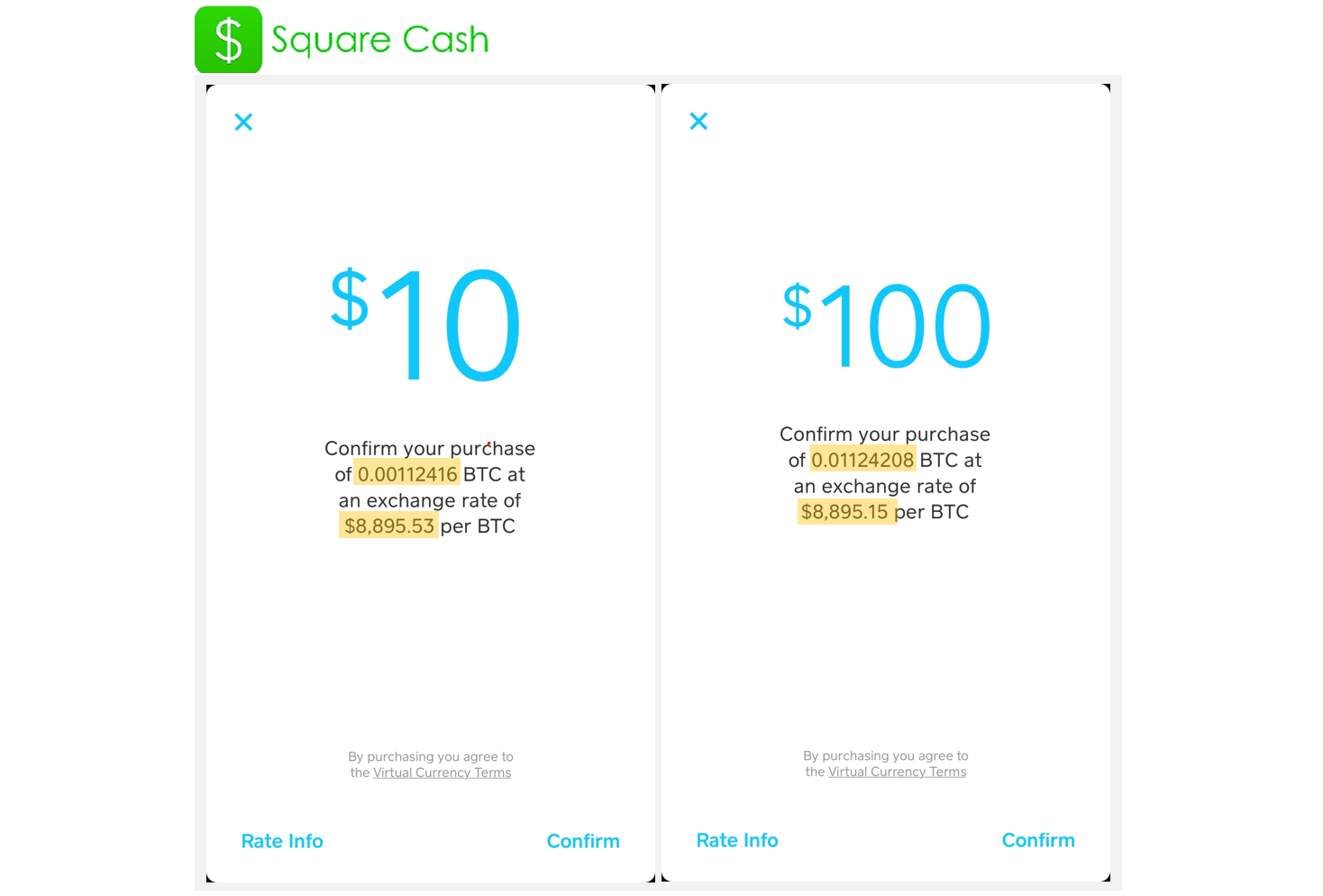 I got 23 extra bitcoin with square cash vs coinbase this gives a bit of insight into how much an intended purchase amount actually impacts or doesnt impact the overall exchange price ccuart Choice Image