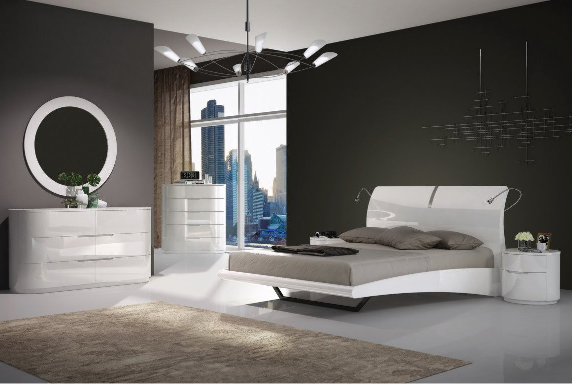 Materials In White From Which Furniture For The Bedroom Is Made Are Very Different MDF To Natural Wood Painted With Paint