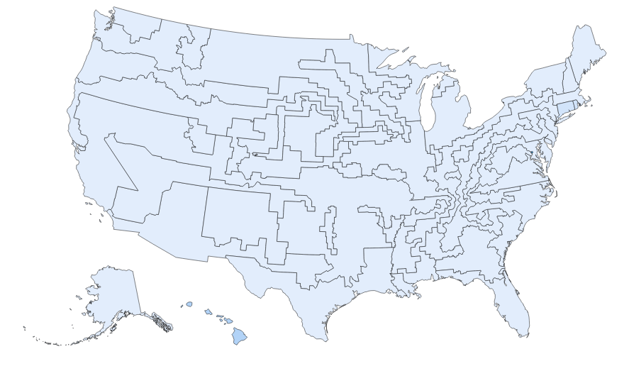 My favorite maps from redraw the states kevin hayes wilson medium funny looking states but clinton wins 538 to 0 gumiabroncs Image collections