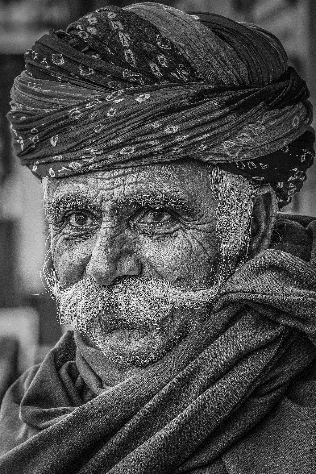 Black and white portraitphoto by arvind patwal