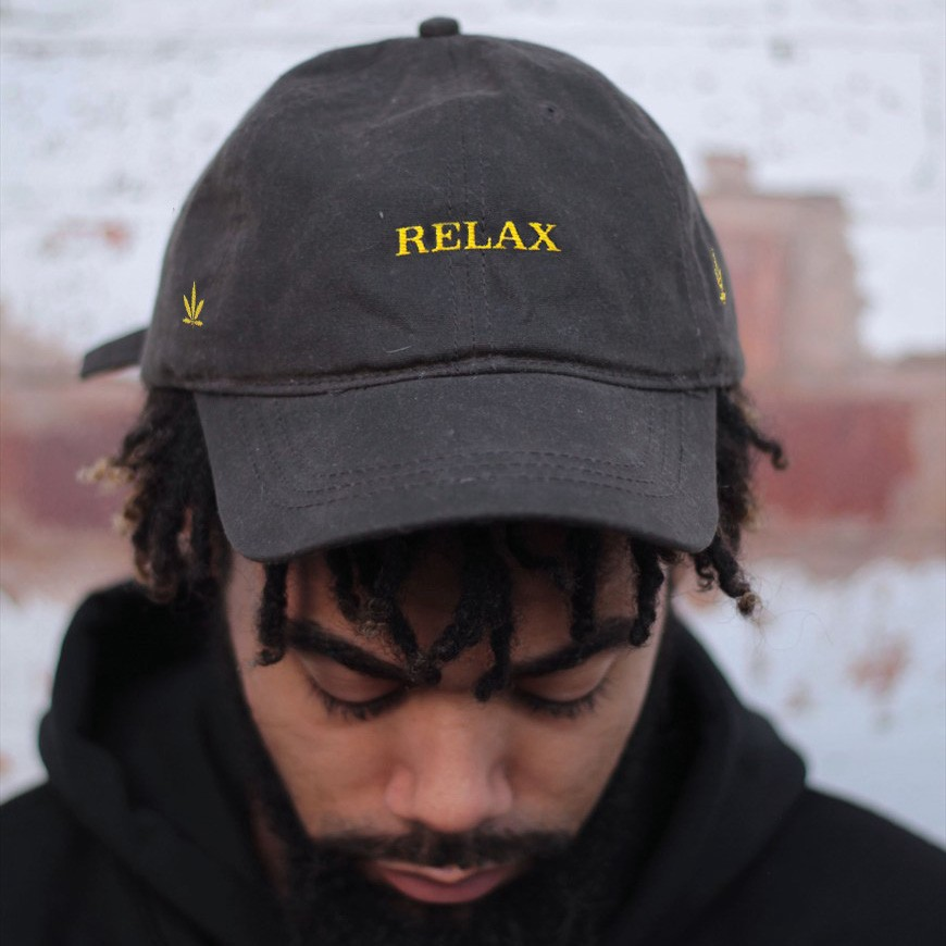 Relax dad hat was inspired by the esthetics of the Rolex logo and is a  great gift for all marijuana supporters. d778b453c1a