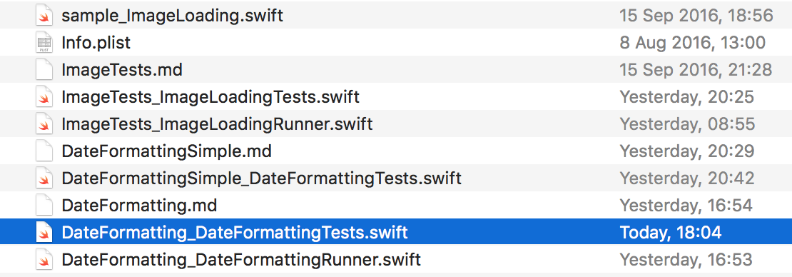 Generated Swift test file