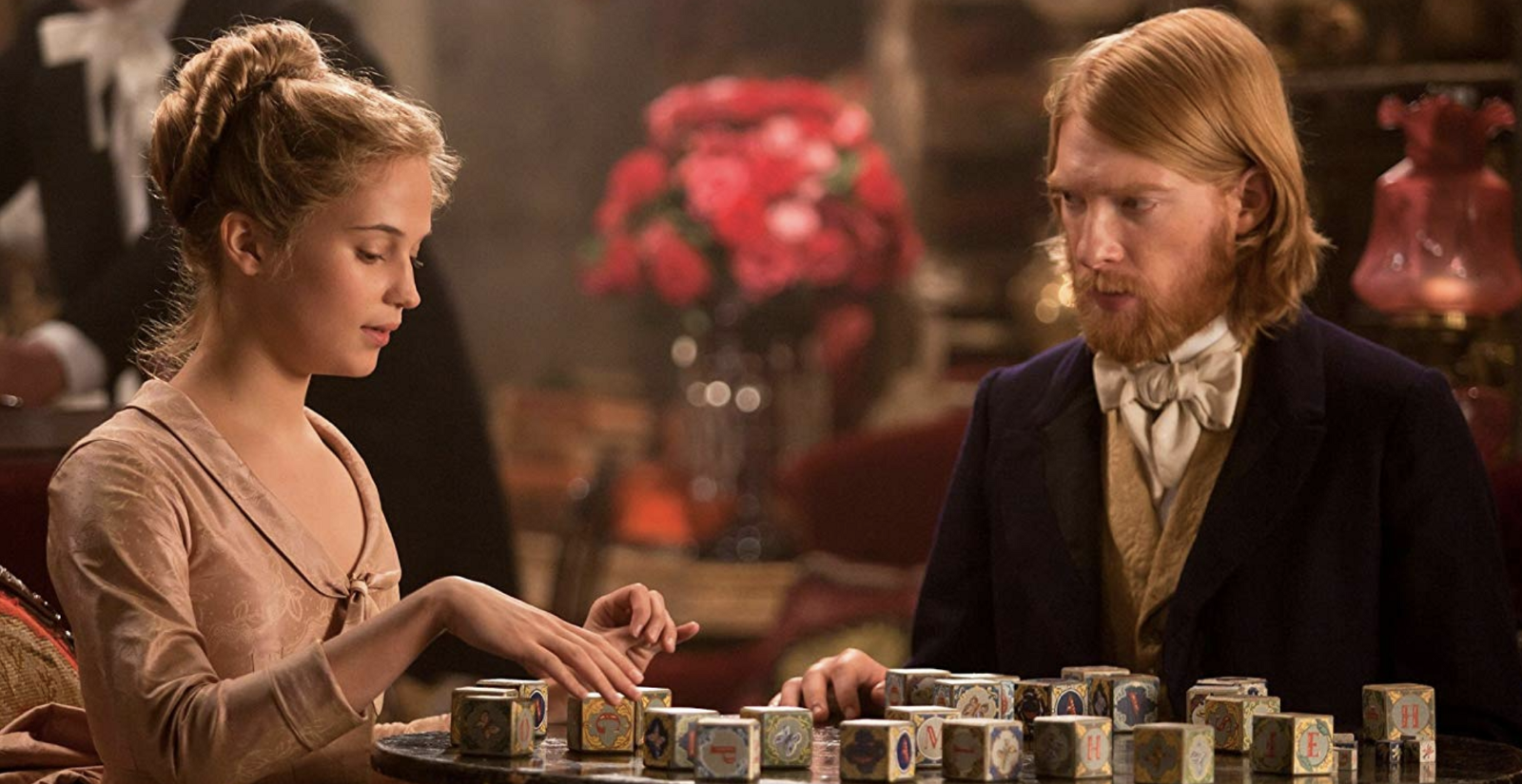Fiction. Domnall Gleeson and Alicia Vikander in the 2012 movie