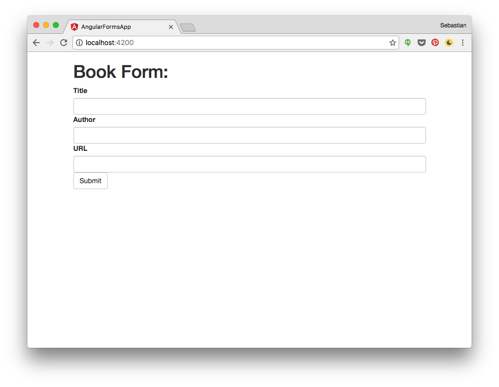 Angular 2 forms tutorial introduction codingthesmartway having made that change the output in the browser should now look like the following falaconquin