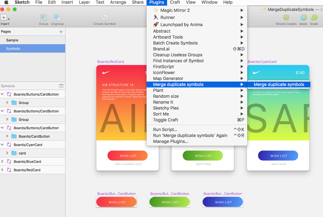 Merge Duplicate Symbols In Sketch Design Sketch Medium