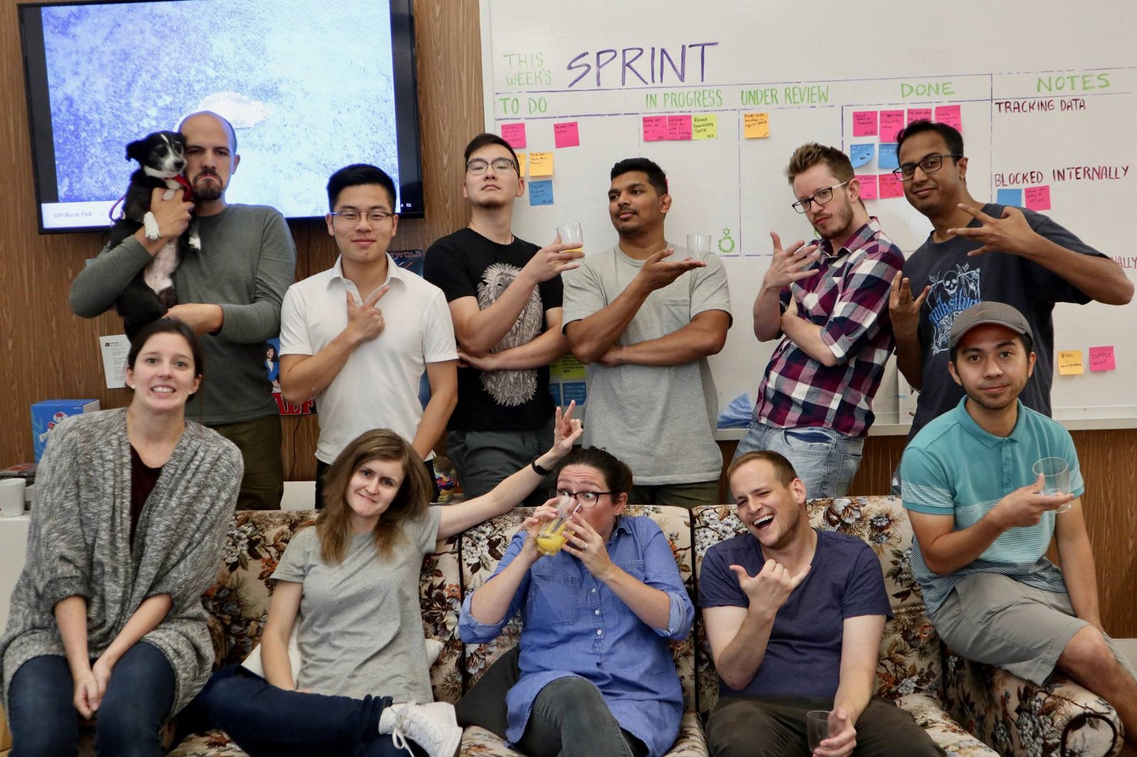 Shopify (Burst) Team in their Pod