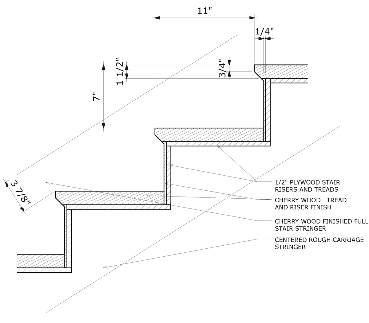 What is the maximum riser height for stairs leading to an open sun deck located above a carport for for Massachusetts building code exterior stairs
