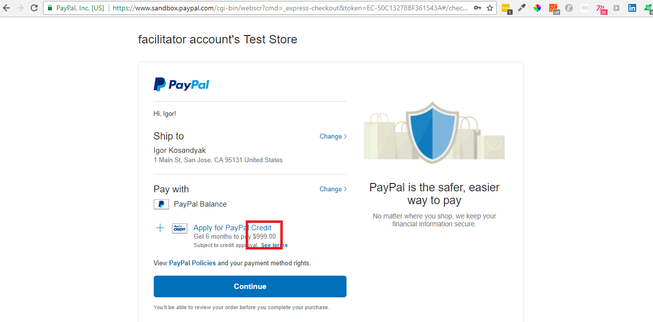 How to bind a Paypal card