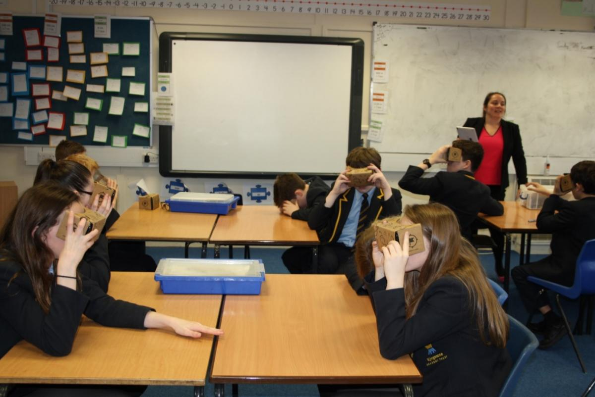 1a53f89998ab The latest in technology has allowed Kingstone High School pupils to take  virtual journeys to a number of places in the world