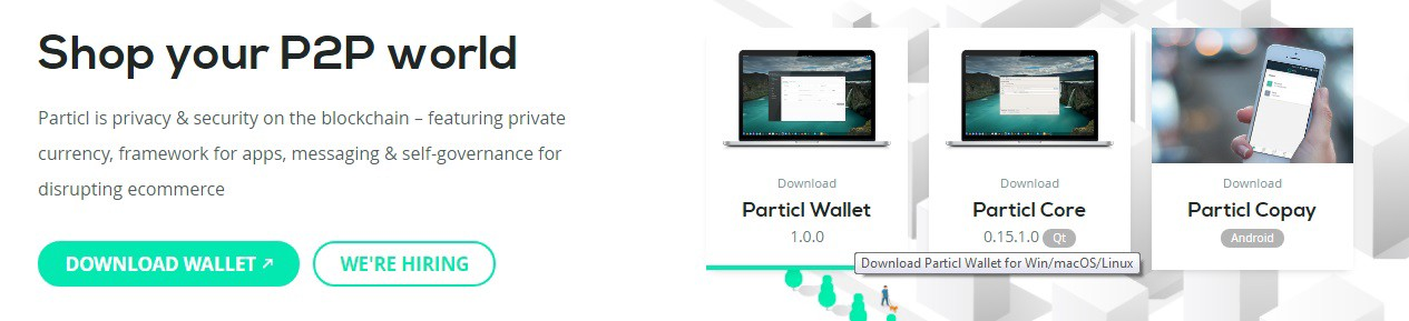 Cryptocurrency particl core wallet