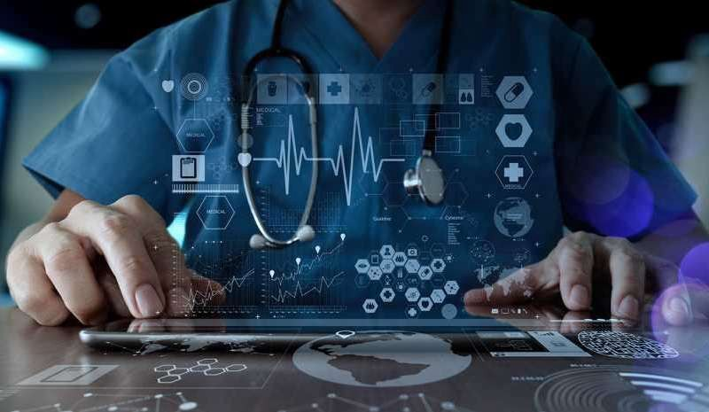 Doctor working with futuristic technology