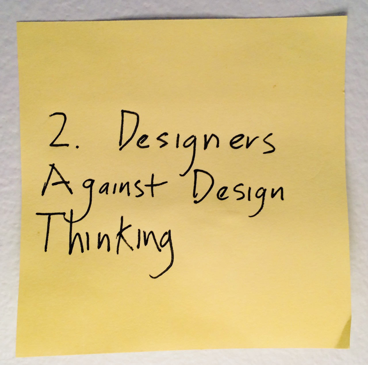 design thinking is kind of like syphilis it s contagious and rots
