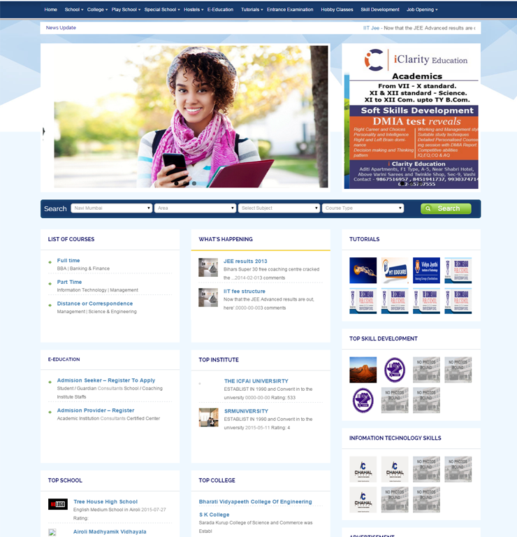 Download Professional Education Website Templates with Responsive