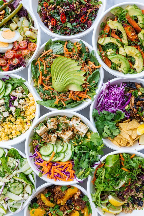 When eating out, choose restaurants that feature fresh produce like Tofu and Avocado