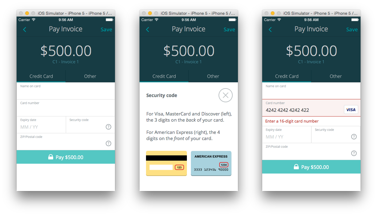 The Anatomy Of A Credit Card Form Ux Collective