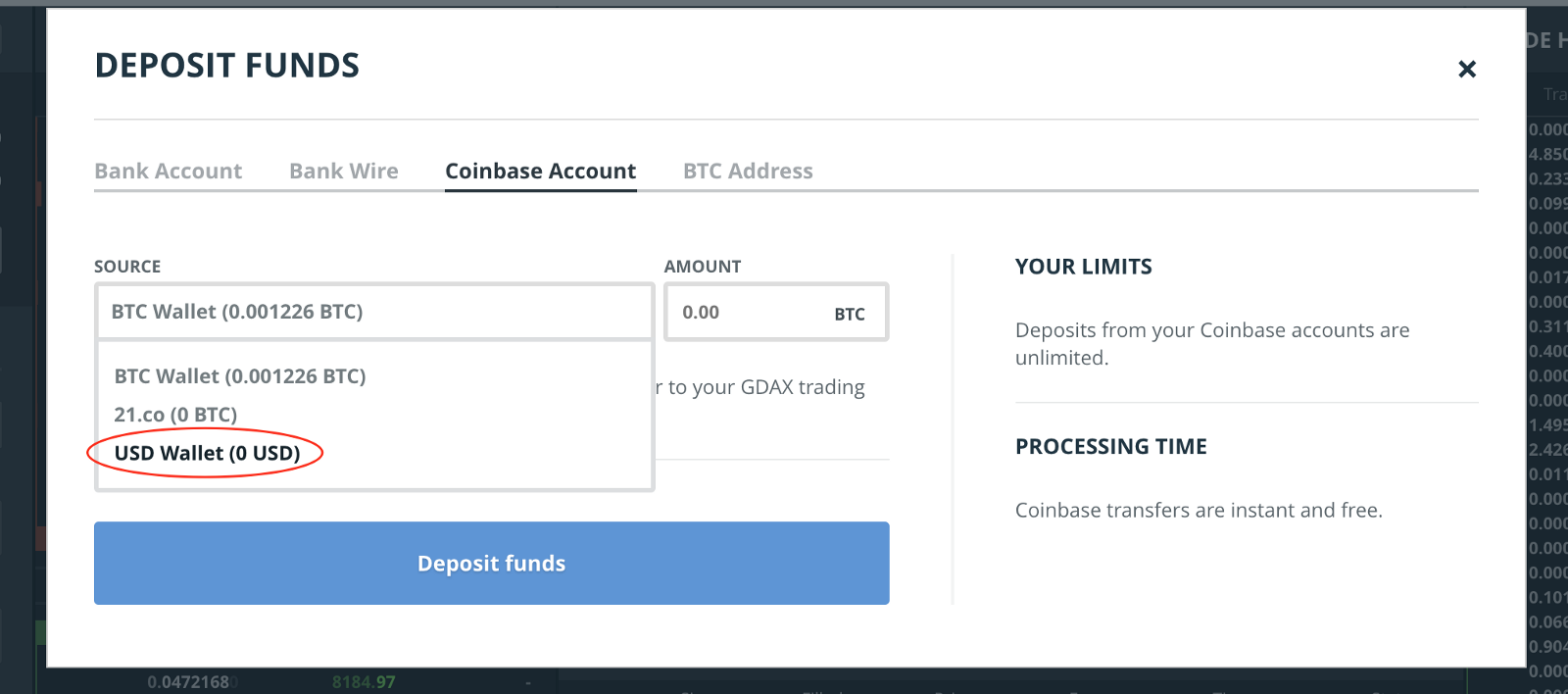 Beginners guide to GDAX, a Coinbase\'s Exchange to trade BTC, ETH and LTC