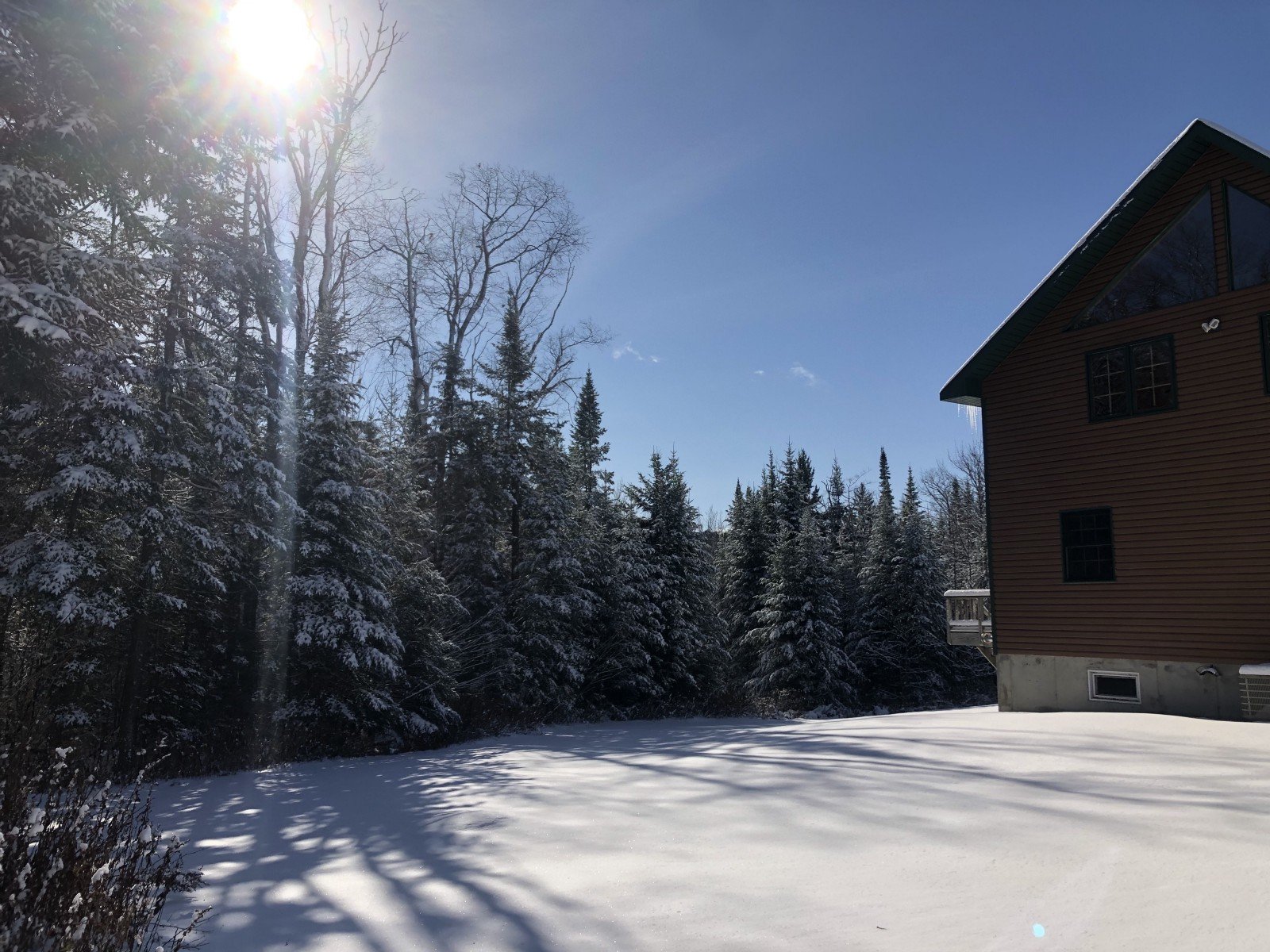 Winter at a Climate Haven, upstate NY